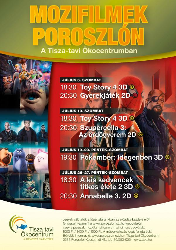 Mozifilmek Poroszlón a Tisza-tavi Ökocentrumban